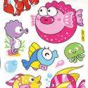Bathroom and Window stickers, Plastic, Assorted colours, 56cm x 21cm, 1 sheet, (JDC248)